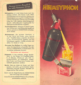 Heimsyphon-Prospekt aus den 50er Jahren