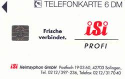 Telefonkarte mit isi-Werbung
